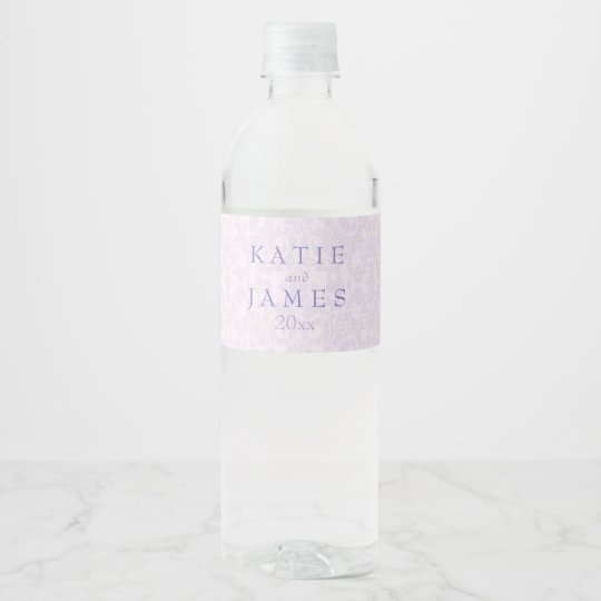 Lovely Lavender & Lace Water Bottle Label