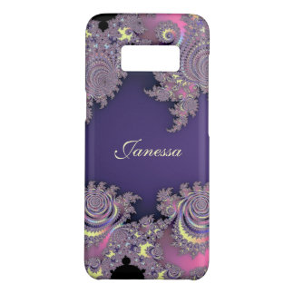 Lovely Lavender Purple Fractal Personalized Case-Mate Samsung Galaxy S8 Case