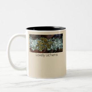 Lovely Lichens Two-Tone Coffee Mug
