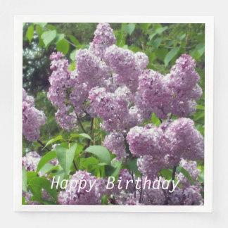 Lovely Lilac Bush Paper Napkins