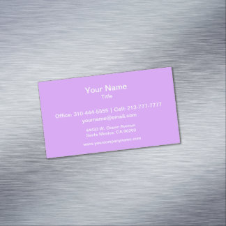 Lovely Lilac Solid Color Magnetic Business Cards