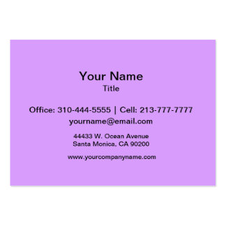 Lovely Lilac Solid Color Pack Of Chubby Business Cards