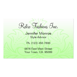 Lovely Lime Fashion Business Cards
