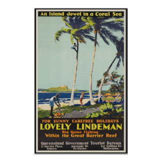 Lovely Lindeman Great Barrier Reef Poster