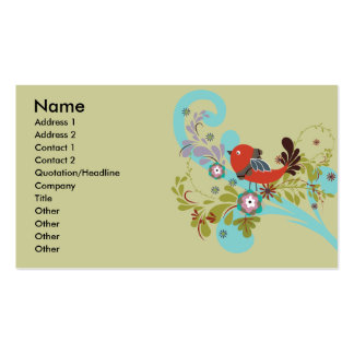 lovely little bird in a tree vector pack of standard business cards