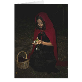 Lovely Little Red Riding Hood Card (Blank)