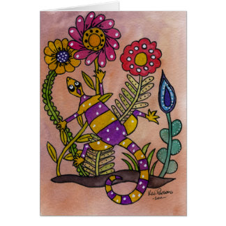 Lovely Lizard Card