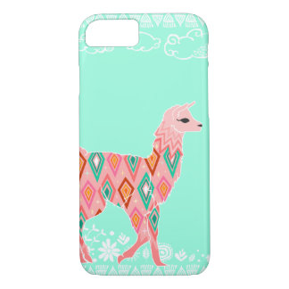 Lovely Llama - Pink iPhone 7 Case