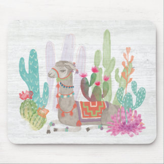 Lovely Llamas I Mouse Pad