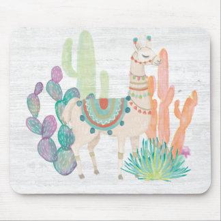 Lovely Llamas II Mouse Pad