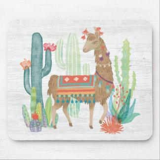 Lovely Llamas III Mouse Pad