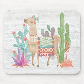Lovely Llamas IV Mouse Pad