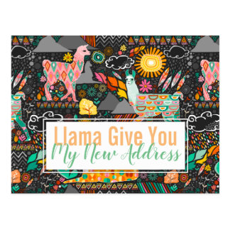 Lovely Llamas on Grey Moving / Moved Cards