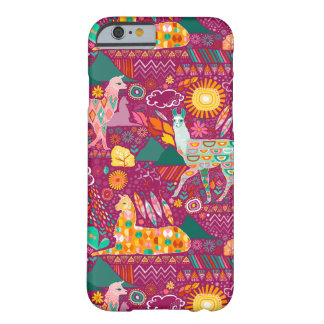 Lovely Llamas on Purple Barely There iPhone 6 Case