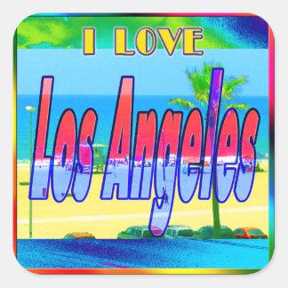 """Lovely Los Angeles 2"" Sticker"