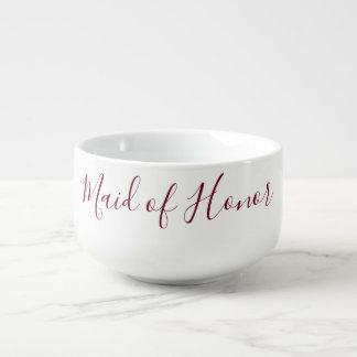 Lovely Maid of Honor Soup Mug