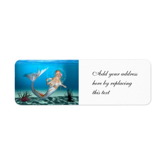Lovely Mermaid Return Address Label