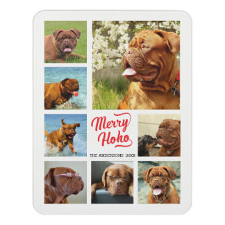 Lovely Merry Ho Ho Family Photo Collage Template Door Sign