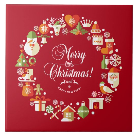 Lovely Merry Little Christmas | Ceramic Tiles