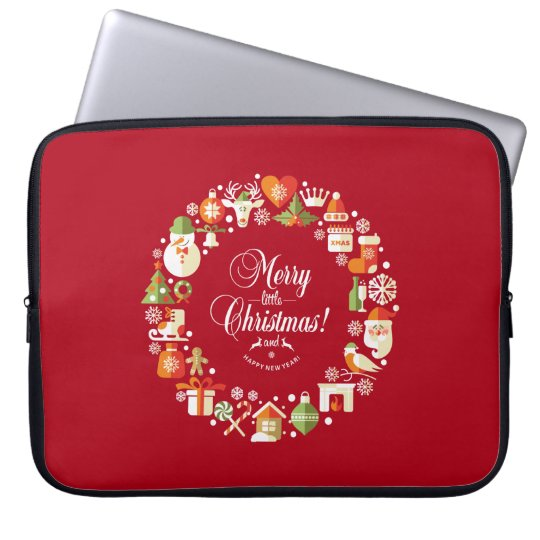 Lovely Merry Little Christmas | Laptop Sleeve