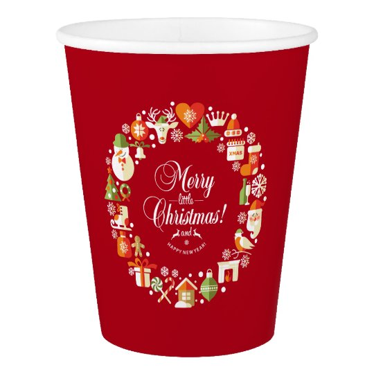 Lovely Merry Little Christmas | Paper Cups