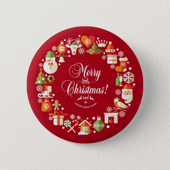 Lovely Merry Little Christmas   Pin Button