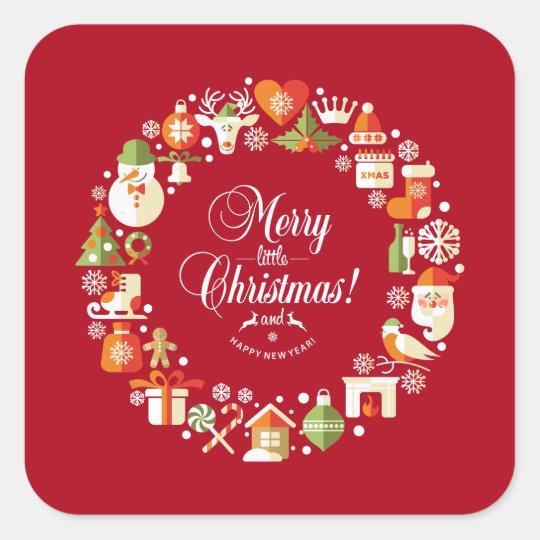 Lovely Merry Little Christmas | Sticker Seal