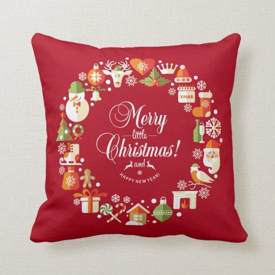 Lovely Merry Little Christmas | Throw Pillow