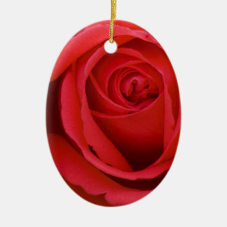 Lovely Merry Red Rose Ceramic Oval Decoration