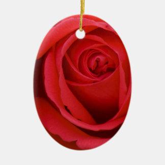 Lovely Merry Red Rose Christmas Ornament