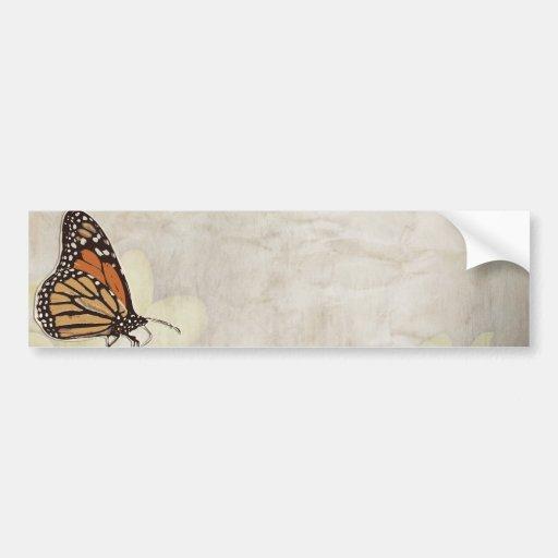 lovely monarch butterlies design bumper sticker