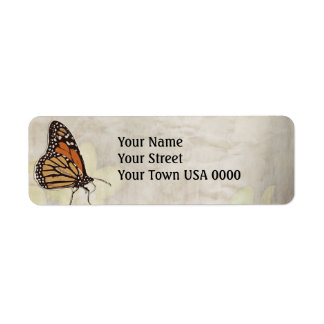 lovely monarch butterlies design return address label
