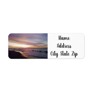 LOVELY MYRTLE BEACH SUNSET *ADDRESS LABEL* RETURN ADDRESS LABEL