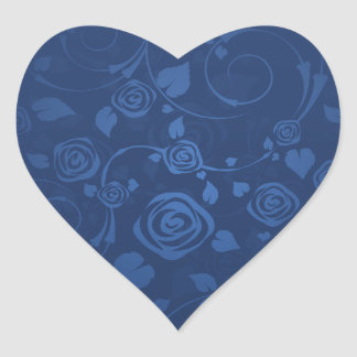 Lovely navy blue roses stickers