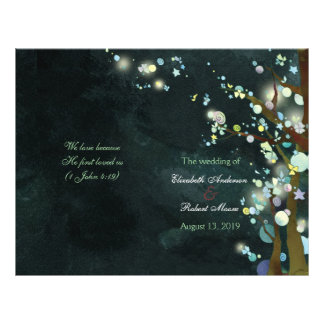 Lovely Night Bi Fold Wedding Ceremony Programs Flyer