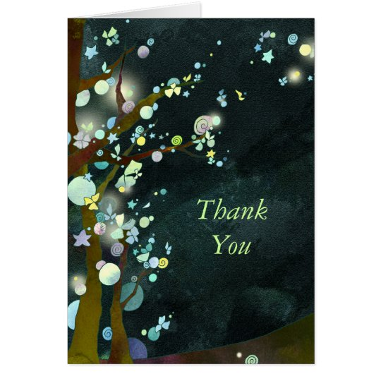 Lovely Night Wedding Thank You Note Card