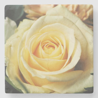 Lovely Off White Cream Rose Stone Coaster