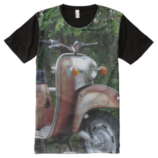Lovely Old Scooter Men  American Apparel All-Over All-Over Print T-Shirt