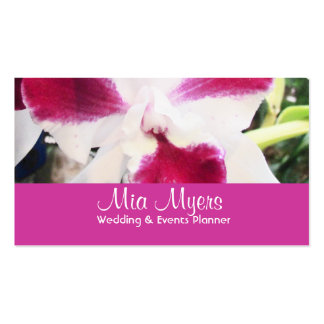 Lovely Orchid Wedding Planner Business Card