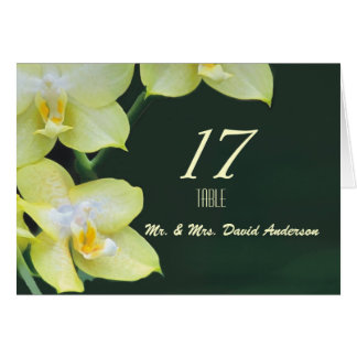 Lovely Orchids Wedding  Place Card