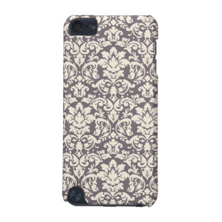 lovely ornate cream ivory on grey taupe damask iPod touch (5th generation) cases
