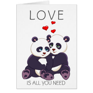 Lovely Pandas Card