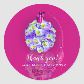 Lovely Pansy Atomizer Birthday Party Classic Round Sticker