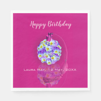 Lovely Pansy Atomizer  Birthday Party Disposable Serviette