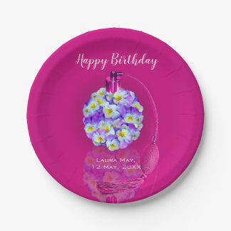 Lovely Pansy Atomizer  Birthday Party Paper Plate