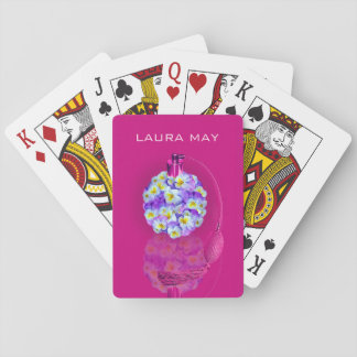 Lovely Pansy Atomizer Playing Cards