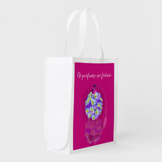 Lovely Pansy Atomizer Reusable Grocery Bag