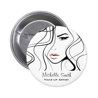 Lovely pastel make up artist  branding 6 cm round badge