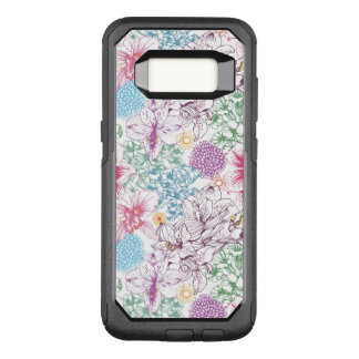 Lovely pattern with colorful flowers OtterBox commuter samsung galaxy s8 case