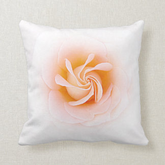 Lovely Peach Colored Rose Throw Pillow